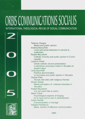 Orbis Communications Socialis 2005. International Theological Revue of Social Communication
