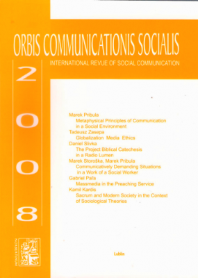 Orbis Communications Socialis 2008. International Theological Revue of Social Communication
